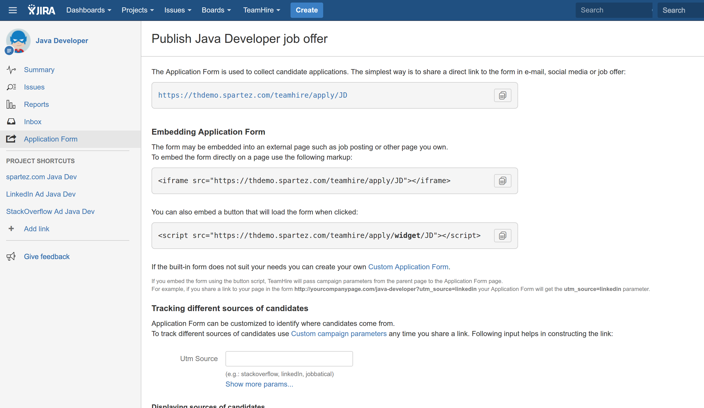 tips tweaks teamhire for jira spartez products documentation select your hiring project from the jira projects menu and go to the application form section the forms come in three flavours learn more from teamhire