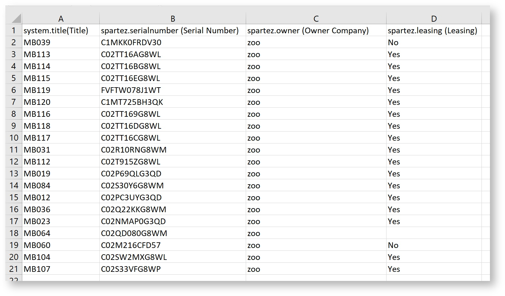 Importing From A Csv File