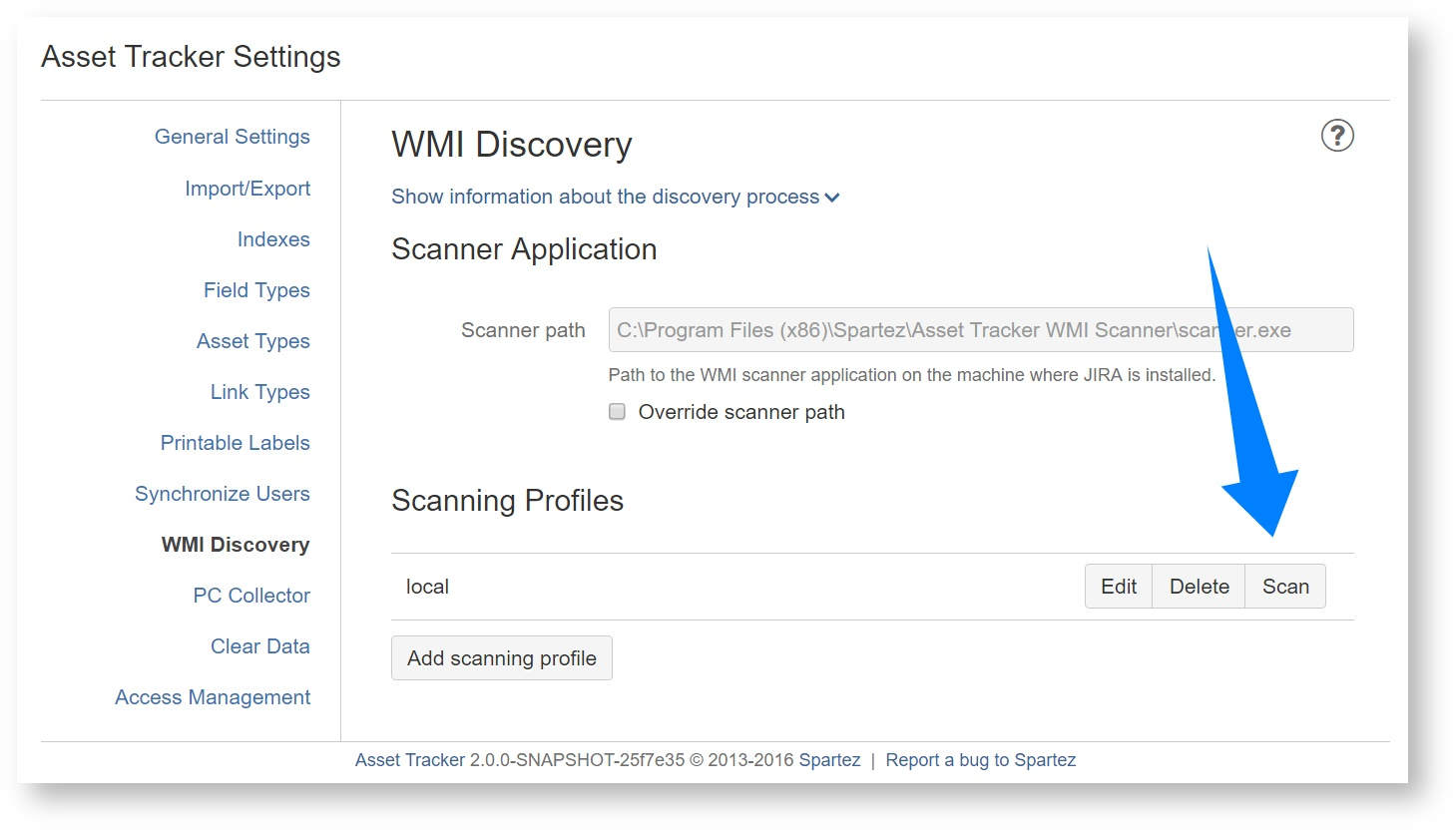Performing WMI scan from JIRA