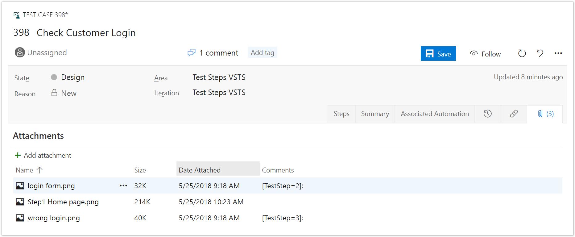 TFS / Azure DevOps (formerly VSTS) Test Steps Synchronization
